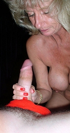 Mother Susan tugs monster cock.