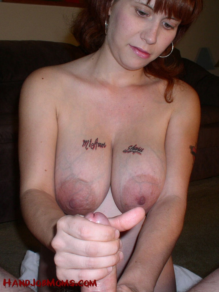Cum on moms tits