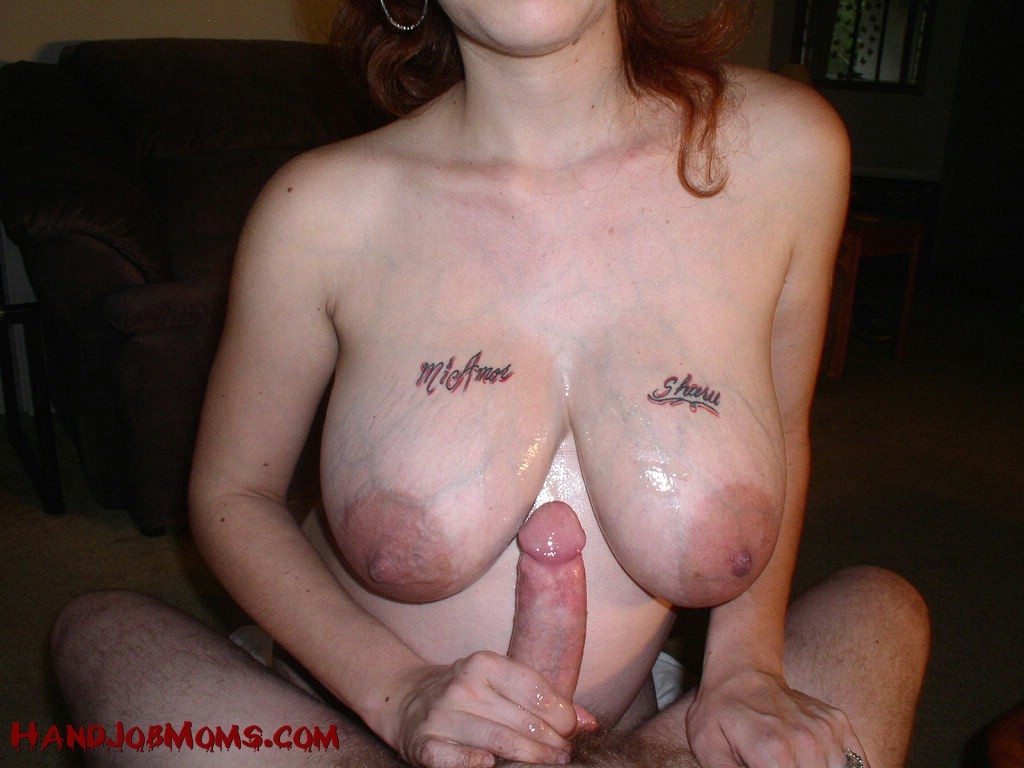 Stepmom and son hand job